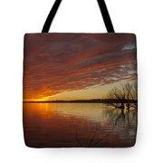 Christmas Eve Sunset  Tote Bag