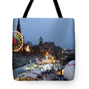 Christmas Fair Edinburgh Scotland Tote Bag