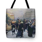 Christmas Fair  Tote Bag by Heinrich Matvejevich Maniser