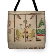 Christmas Fireside Tote Bag