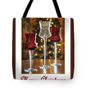 Christmas Glass Candle Holders Tote Bag