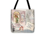 Christmas Greeting Card 36 - Snowy Winter Eve  Tote Bag