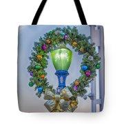 Christmas Holiday Wreath With Balls Tote Bag