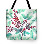 Christmas Holly Tote Bag