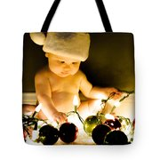 Christmas In A Baby's Eyes Tote Bag