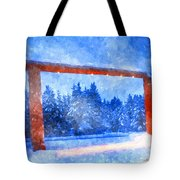 Christmas In The Mountains Tote Bag