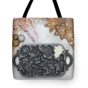 Christmas Interior With Sweets And Vintage Kitchen Tools Tote Bag