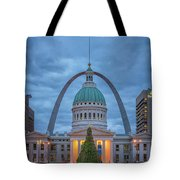 Christmas Jefferson National Expansion Memorial St Louis 7r2_dsc3574_12112017 Tote Bag