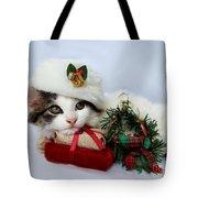 Christmas Kitten Tote Bag