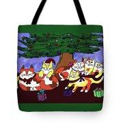 Christmas Kitties  Tote Bag