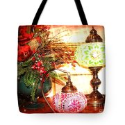 Christmas Lamps Tote Bag