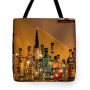 Christmas Lights And Bottles 4197t Tote Bag