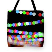 Christmas Lights Bokeh Blur Tote Bag