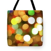 Christmas Lights Tote Bag by Carlos Caetano