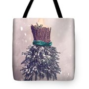 Christmas Mannequin Dressed In Fir Branches Tote Bag
