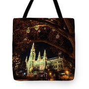 Christmas Market At The Vienna City Hall Tote Bag