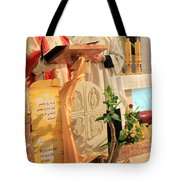 Christmas Mass Tote Bag