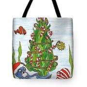 Christmas Of The Sea Tree Tote Bag