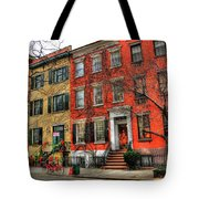 Christmas On Grove Street Tote Bag