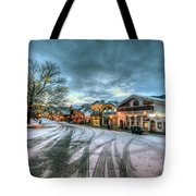 Christmas On Main Street Tote Bag