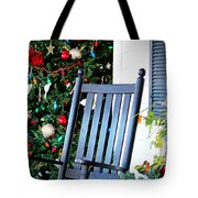 Christmas On The Porch Tote Bag