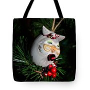 Christmas Owl Tote Bag