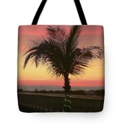 Christmas Palm Tote Bag