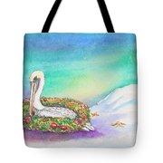 Christmas Pelican Tote Bag
