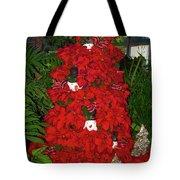 Christmas Poinsettia Display 002 Tote Bag