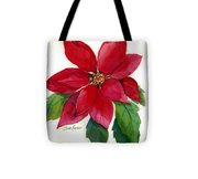 Christmas Poinsettia Tote Bag