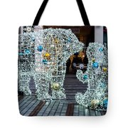 Christmas Polar Bears Tote Bag