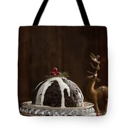 Christmas Pudding With Cream Tote Bag