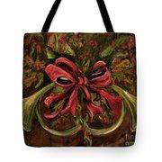 Christmas Red Ribbon Tote Bag