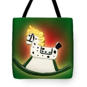 Christmas Rocking Horse Tote Bag
