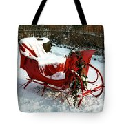Christmas Sleigh Tote Bag by Andrew Fare