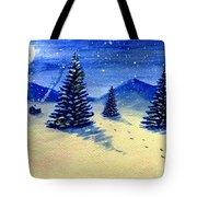 Christmas Snow Tote Bag