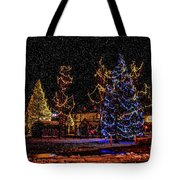 Christmas Snow Storm In Big Bear Tote Bag