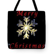 Christmas Snowflakes Tote Bag