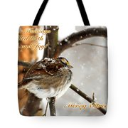 Christmas Sparrow - Christmas Card Tote Bag