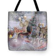 Christmas Spirits Heading To Topsail Island Nc Tote Bag