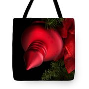 Christmas Tradition - Red Ornament And Ribbon Tote Bag