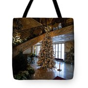 Christmas Tree And Staircase Marble House Newport Rhode Island Tote Bag