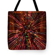 Christmas Tree Colorful Abstract Tote Bag