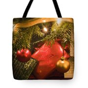 Christmas Tree Decorations And Gifts Tote Bag
