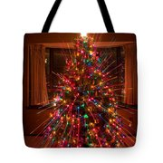 Christmas Tree Light Spikes Colorful Abstract Tote Bag