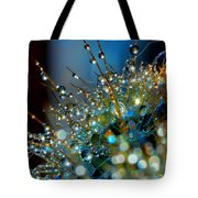 Christmas Tree Made Of Cactus And Water Drops Tote Bag