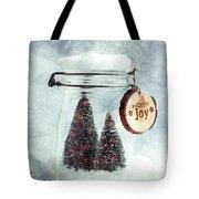 Christmas Tree Snowglobe Tote Bag