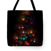 Christmas Tree Splatter Paint Abstract Tote Bag