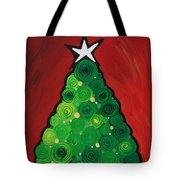 Christmas Tree Twinkle Tote Bag