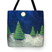 Christmas Trees In The Snow Tote Bag